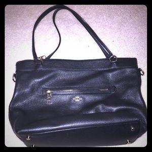 Women's black coach tote bag